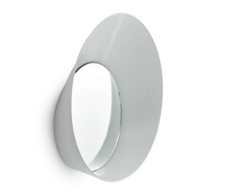 Normann Copenhagen Kapstok haak met spiegel Ready Hook wit staal ø20x5cm
