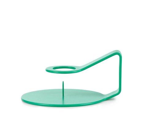 Normann Copenhagen Kandelaar Nocto aqua groen zink 12x10,2x6cm