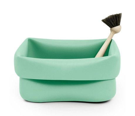 Normann Copenhagen Afwasmand Washing-up Bowl mint groen rubber 28x28x14cm