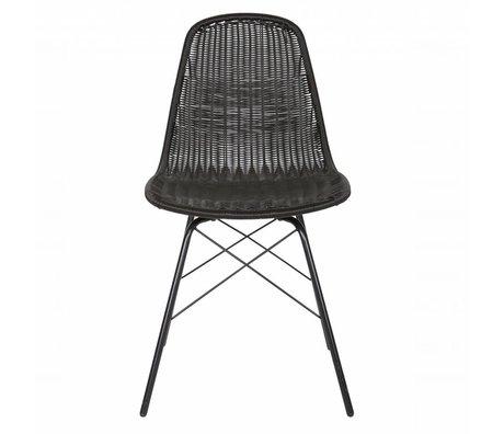 BePureHome Stoel Spun zwart polyester metaal 84,5x52,5x45,5cm