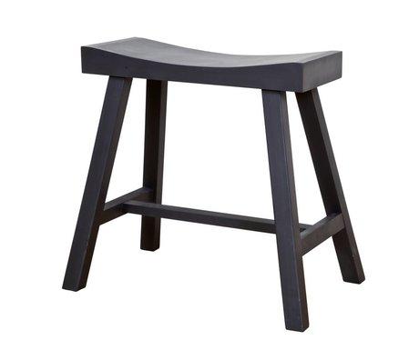 BePureHome Kruk Charcoal zwart hout 45/50,5x19/30x45cm