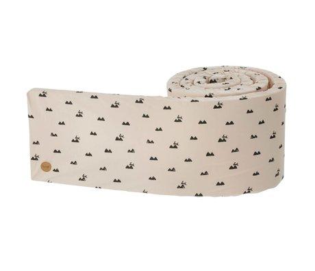 Ferm Living Bed bumper Rabbit roze zwart 340x30x3,5cm