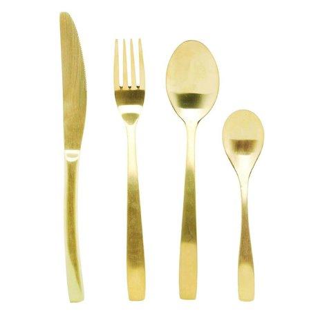 Housedoctor Bestek set voor 6 personen titanum goud