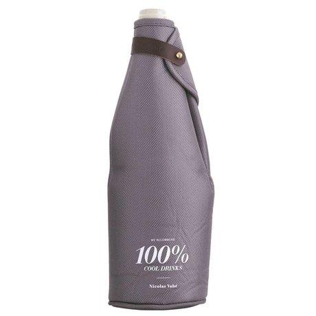Nicolas Vahe Wijn koeler 100% cool drinks grijs 9,5x28cm