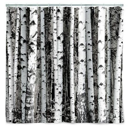 LEF collections Douchegordijn Birch bomen 180x200cm