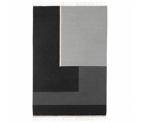 Ferm Living Vloerkleed Kelim Section grijs large 160x250cm