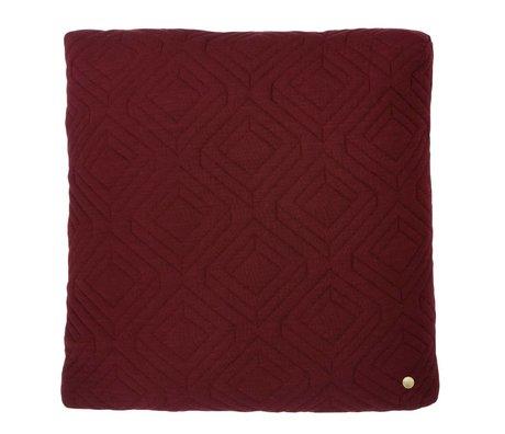 Ferm Living Sierkussen Quilted bordeaux rood 45x45cm