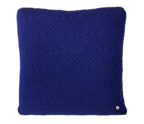 Ferm Living Sierkussen Quilted donker blauw 45x45cm