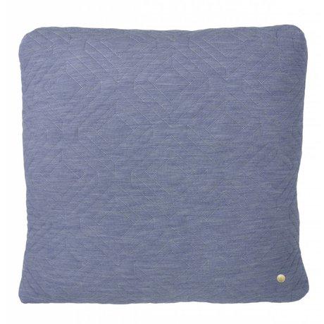 Ferm Living Sierkussen Quilted licht blauw 45x45cm
