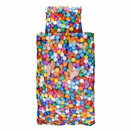 Snurk Beddengoed Dekbedovertrek BALL PIT multicolour katoen 140x220cm