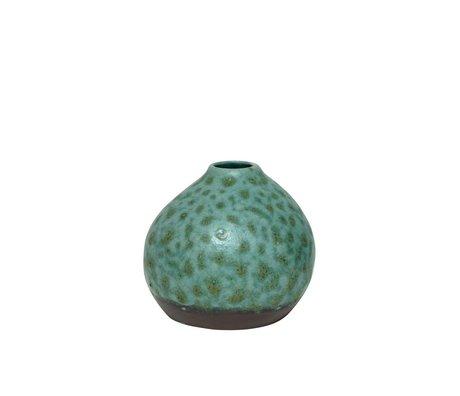 HK-living Sier potje keramiek organisch groen 14x14x13cm