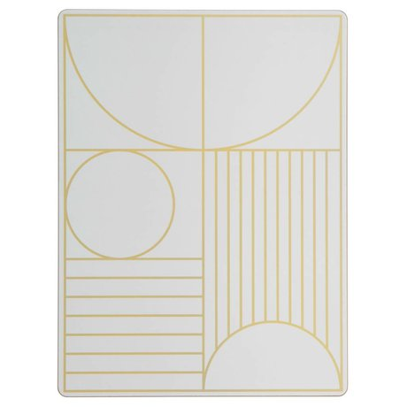 Ferm Living Placemat Outline gebroken wit hout kruk 40x30cm