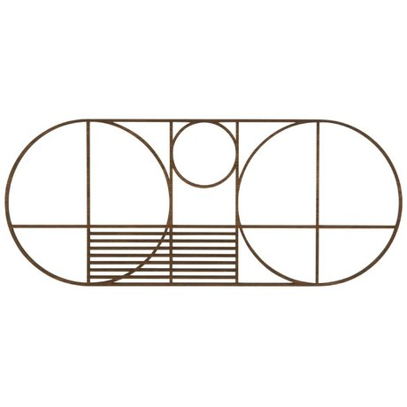 Ferm Living Onderzetter Outline trivet oval eiken hout 32x13,5cm