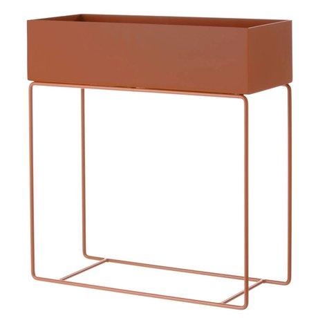 Ferm Living Box voor plant oranje metaal 60x25x65cm