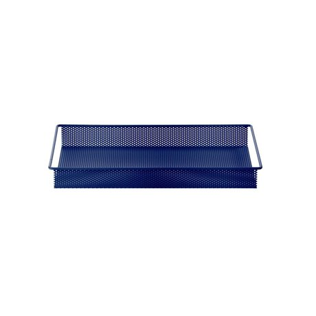 Ferm Living Dienblad / Opberg Tray blauw metaal small 32x23x3,8cm