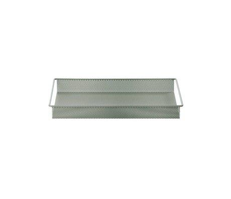 Ferm Living Dienblad / Opberg Tray dusty groen metaal small 32x23x3,8cm