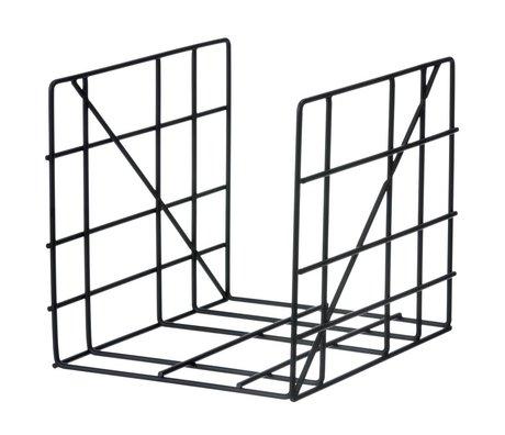 Ferm Living Tijdschriftenhouder Magazine Holder Square zwart metaal 31x25cm