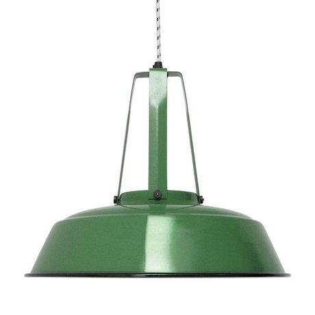 HK-living Hanglamp workshop emerald groen LARGE, industriële lamp 45x45x40cm