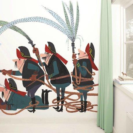 KEK Amsterdam Behang Fire Brigade multicolour vliespapier 389,6x280cm