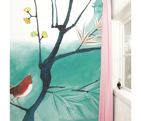 KEK Amsterdam Behang Singing Bird multicolour vliespapier 292,2x280cm