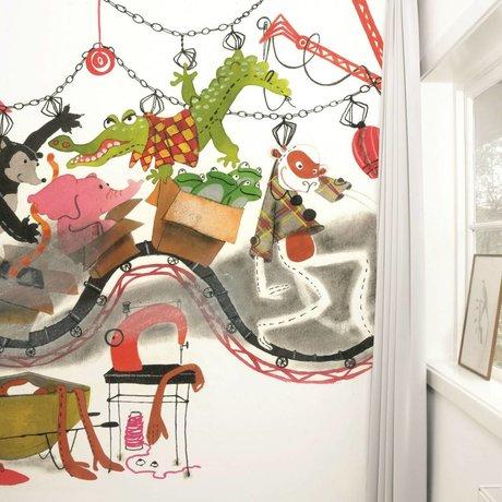 KEK Amsterdam Behang Toy Factory multicolour vliespapier 389,6x280cm