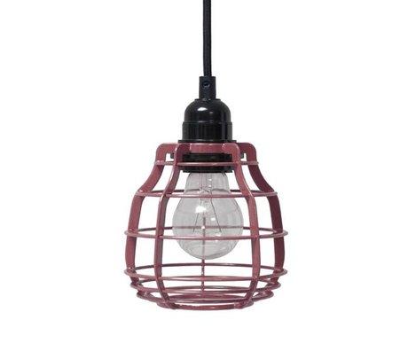 HK-living Hanglamp LAB marsala met schakelaar metaal ø13x13x17cm