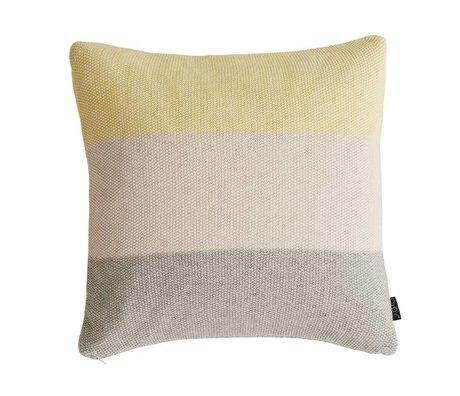OYOY Sierkussen PEARL geel roze grijs katoen 50x50cm