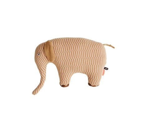 OYOY Knuffel olifant Dumbo roze bruin 40x14x35cm