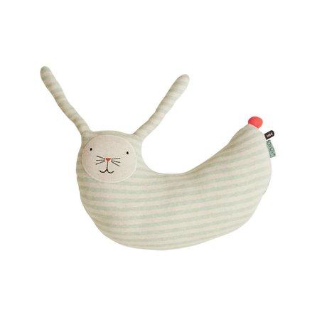 OYOY Knuffel konijn Peter mintgroen wit katoen 47x14x50cm