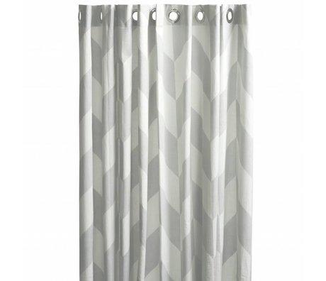 OYOY Douchegordijn MUMI grijs wit polyester 180x200cm