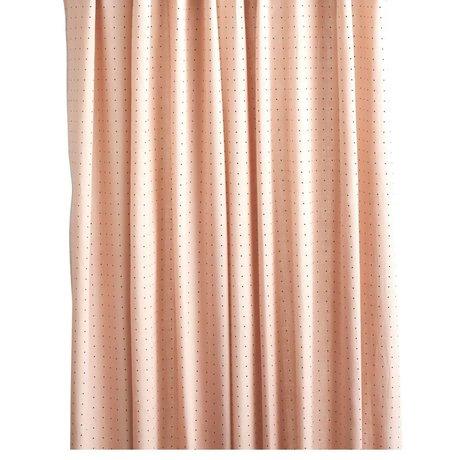OYOY Douchegordijn DOT roze zwart polyester 180x200cm