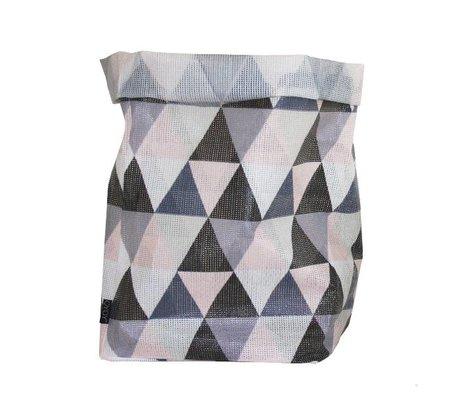 OYOY Opbergmand Hokuspokus Triangle large polyester multicolour 30x30x54cm