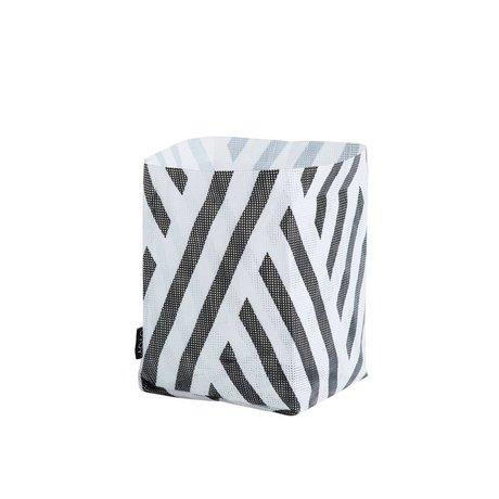 OYOY Opbergmand Hokuspokus bag polyester zwart wit small 20x20x28cm