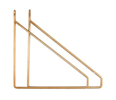 Housedoctor Housedocter wandhaken set brass metaal 25.5x26cm