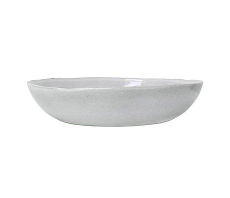 HK-living Serveerschaal wit keramiek 34x34x7,5cm
