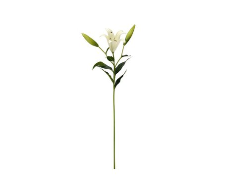 HK-living Decoratie witte lelie tak 76cm