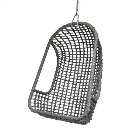 HK-living Hangstoel grijs polyethyleen 77x55x110cm
