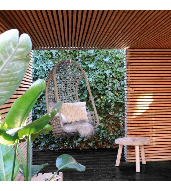 Hk Living Hangstoel.Hk Living Hangstoel Zwart Polyethyleen 77x55x110cm Lefliving Be