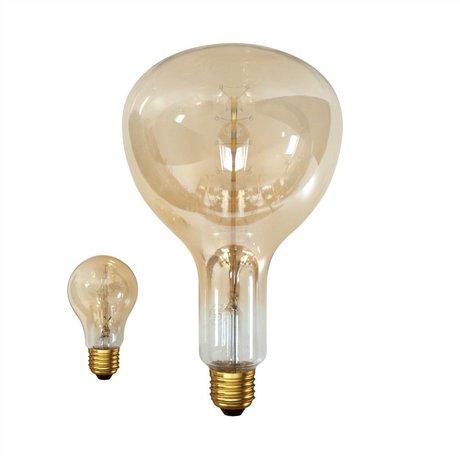 HK-living Lampenbol gloeilamp met gold effect 18x18x36cm
