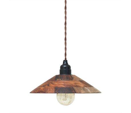 HK-living Hanglamp bruin hout 24x24x6cm