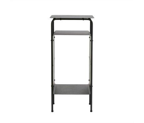 Housedoctor Bijzettafel Room zwart metaal 32x30x70cm