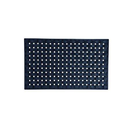 Housedoctor Mat All Rubber design 02 zwart rubber 45x75cm