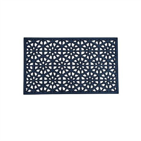 Housedoctor Mat All Rubber design 01 zwart rubber 45x75cm