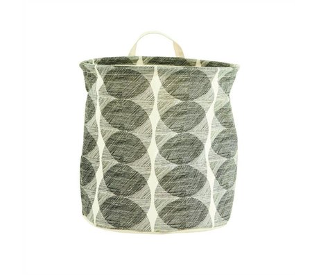 Housedoctor Wasmand Circles wit/zwart katoen/polyester/rayon Ø30x30cm