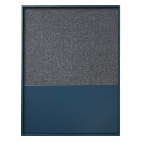 Ferm Living Prikbord magneetbord Frame Pinboard blauw 62x3,5x82cm