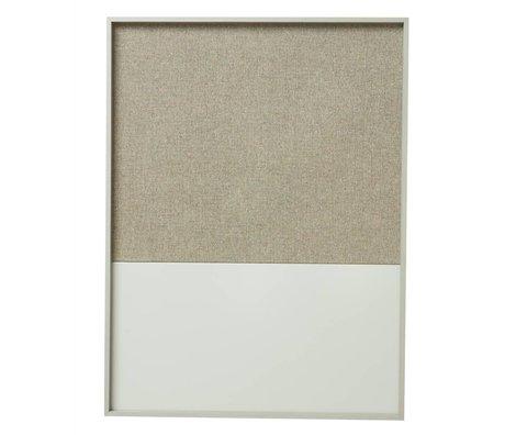 Ferm Living Prikbord magneetbord Frame Pinboard grijs 62x3,5x82cm
