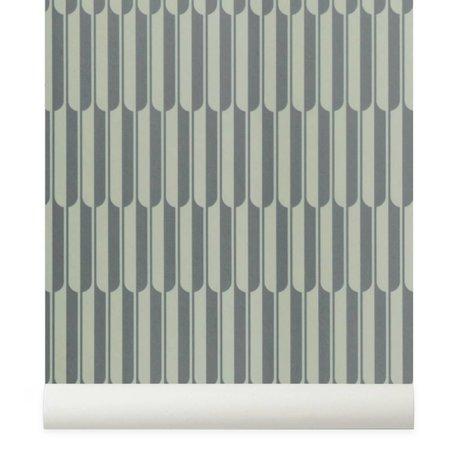 Ferm Living Behang Arch grijs gebroken wit 10x0,53m