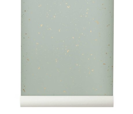 Ferm Living Behang Confetti mint groen 10x0,53m
