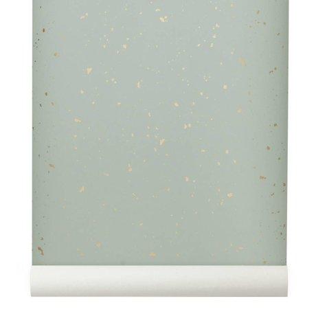 Ferm Living Behang Confetti mint groen 10x0,53m