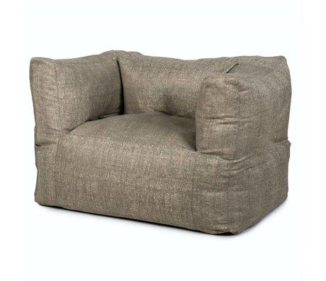 BRYCK Loungestoel Chair GREYskill grijs textiel 75x75x100cm